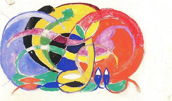 Abstrakte Komposition Franz Marc