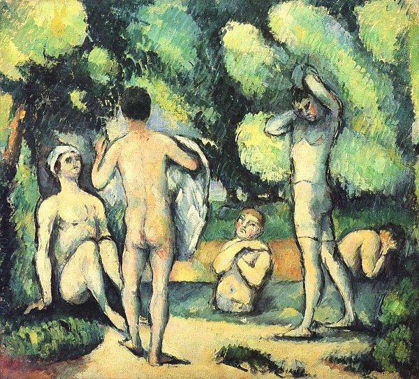 Die Badenden - Cezanne
